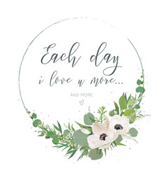 Floral card design with elegant bouquet wreath vector