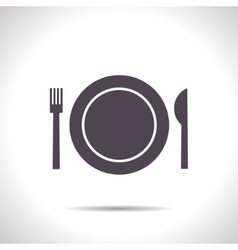 Fork plate knife vector