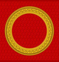 golden round picture frame vector image