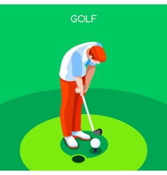 Golf 2016 Summer Games 3D Isometric vector