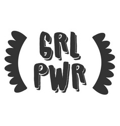 grl pwr print vector image