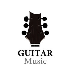 Guitar music logo for show or school vector