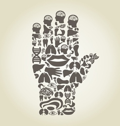 Hand body vector image