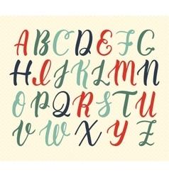 Hand drawn latin calligraphy brush script of vector image