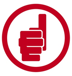 Hand showing thumbs up symbol - giving ok vector