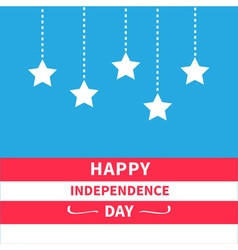 Hanging stars independence day vector