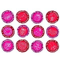 Happy valentines day prints vector