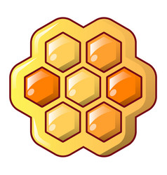 Honey combs icon cartoon style vector