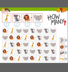 How many animals activity vector