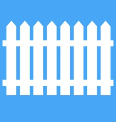 Icon fence on a blue background vector image