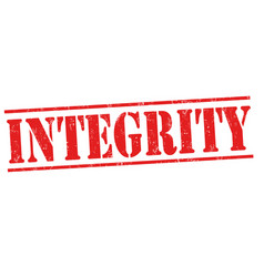 Integrity sign or stamp vector