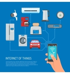 internet things concept in vector image