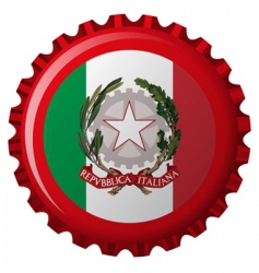 Italy bottle cap vector image
