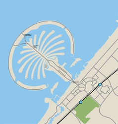 Jumeirah Palm Map vector