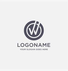 letter w checkmark logo icon template vector image
