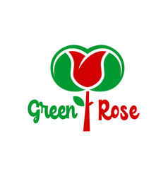 logo designs roses and leaves vector image