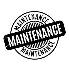 Maintenance rubber stamp vector