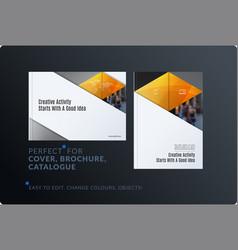 material design template creative yellow vector image