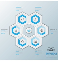Modern Hexagon Business Infographic vector image