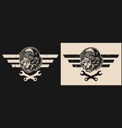 Motorcycle repair service logo vector