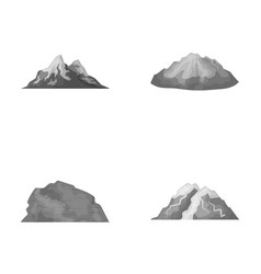 Mountains in the desert a snowy peak an island vector