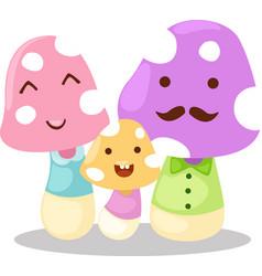 Mushrooms family vector