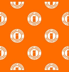 net control pattern orange vector image