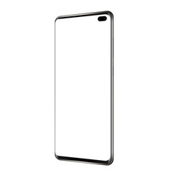 new modern frameless phone - side perspective view vector image
