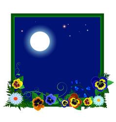 Night flowers vector