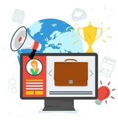 Personal portfolio in internet vector