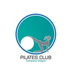 Pilates logo design vector