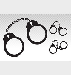 Police handcuffs flat icon for apps or website vector