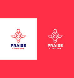 prayer logotype template positive and negative vector image