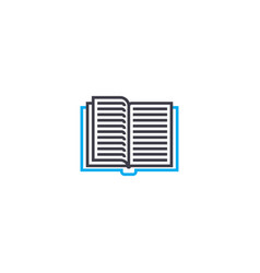 reading fiction linear icon concept reading vector image