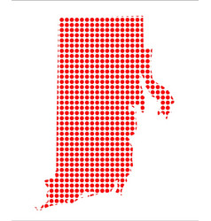 red dot map of rhode island vector image