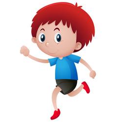 Red hair boy walking vector