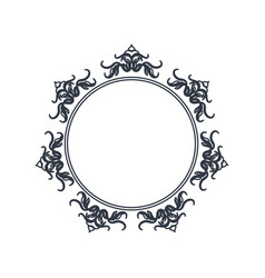 round decorative frame flourish calligraphy vector image