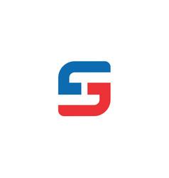 s and h elegant minimal letter symbol vector image