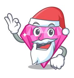 Santa pink diamond in a cartoon box vector