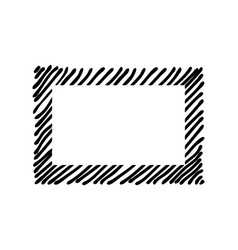 scribble hatching along the rim frame rectangle vector image