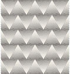 Seamless Stippling Chevron ZigZag Halftone vector image