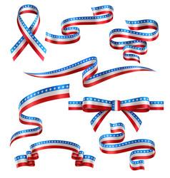 set american ribbons vector image