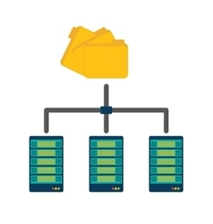 Shared archived folders data center related vector