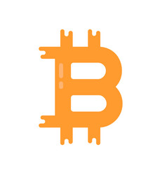 Simple bitcoin logo like crypto currency vector