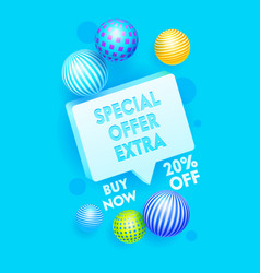 Special extra offer banner printable promo vector