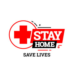 stay home icon vector image