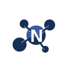 Synergy logo initial n vector