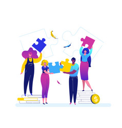 teambuilding - modern flat design style colorful vector image
