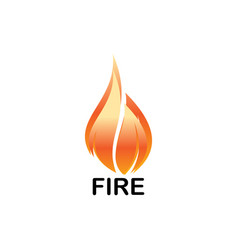 technology of fire business logo vector image