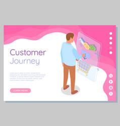 template customer journey site way from seller vector image